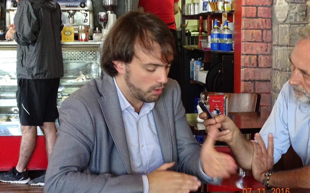 Con Jorge Sharp sindaco di Valparaíso (Cile)