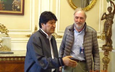 Io e Evo Morales