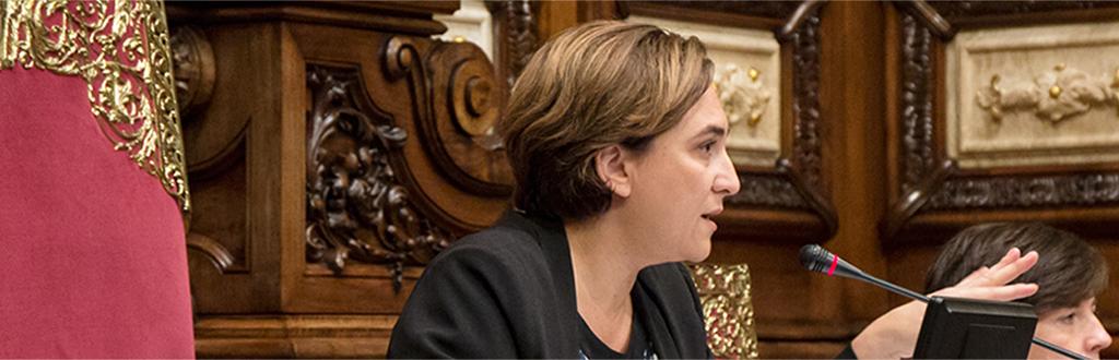 Conversando con Ada Colau, sindaca di Barcellona